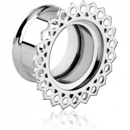 STAINLESS STEEL DOUBLE FLARED INTERNALLY THREADED TUNNEL PIERCING
