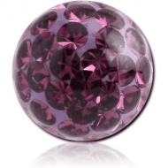 EPOXY COATED CRYSTALINE JEWELLED BALL FOR BALL CLOSURE RING