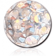 EPOXY COATED CRYSTALINE JEWELLED MICRO BALL FOR BALL CLOSURE RING