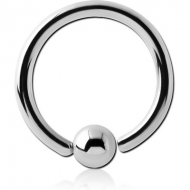 SURGICAL STEEL FIXED BEAD RING PIERCING