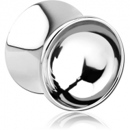 SURGICAL STEEL DOUBLE FLARED MIRROR PLUG PIERCING