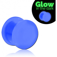 SILICONE GLOW IN THE DARK DOUBLE FLARED PLUG PIERCING