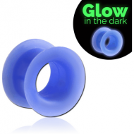 SILICONE GLOW IN THE DARK DOUBLE FLARED TUNNEL