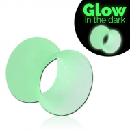 SILICONE GLOW IN THE DARK FLARED TUNNEL PIERCING