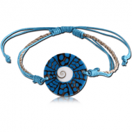 COTTON AND SYNTHETIC SHELL BRACELET