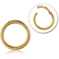 GOLD PVD COATED SURGICAL STEEL HINGED SEGMENT RING PIERCING