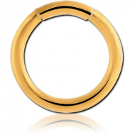 GOLD PVD COATED SURGICAL STEEL SMOOTH SEGMENT RING PIERCING
