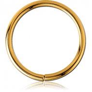 GOLD PVD COATED SURGICAL STEEL SEAMLESS RING
