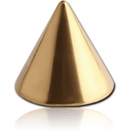GOLD PVD COATED SURGICAL STEEL CONE