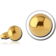 GOLD PVD COATED SURGICAL STEEL BALL FOR 1.2MM INTERNALLY THREADED PINS