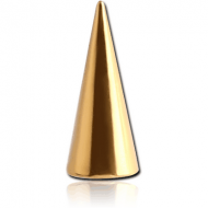 GOLD PVD COATED SURGICAL STEEL MICRO LONG CONE