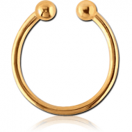 GOLD PVD COATED SURGICAL STEEL FAKE SEPTUM RING PIERCING