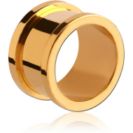 GOLD PVD COATED STAINLESS STEEL THREADED TUNNEL