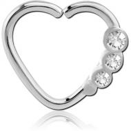 SURGICAL STEEL OPEN HEART SEAMLESS RING PIERCING