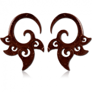 ORGANIC COCONUT SHELL CLAW EARRINGS PAIR