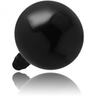 BLACK PVD SURGICAL STEEL BALL FOR 1.6MM INTERNALLY THREADED PIN PIERCING