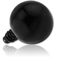 BLACK PVD SURGICAL STEEL BALL FOR 1.2MM INTERNALLY THREADED PIN PIERCING