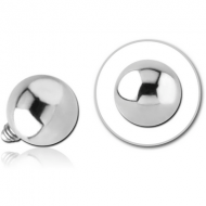 SURGICAL STEEL BALL FOR 1.6MM INTERNALLY THREADED PIN PIERCING