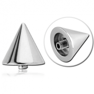 SURGICAL STEEL COUNTERSUNK CONE FOR INTERNALLY THREADED PIN PIERCING