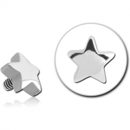 SURGICAL STEEL ATTACHMENT FOR 1.6MM INTERNALLY THREADED PINS - STAR PIERCING