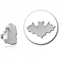 SURGICAL STEEL ATTACHMENT FOR 1.6MM INTERNALLY THREADED PINS - BAT PIERCING