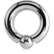 SURGICAL STEEL INTERNALLY THREADED BALL CLOSURE RING