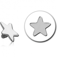 SURGICAL STEEL STAR FOR 1.6MM INTERNALLY THREADED PINS PIERCING