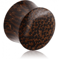ORGANIC WOODEN PLUG PALM DOUBLE FLARED PIERCING