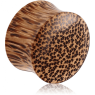 ORGANIC WOODEN COCONUT DOUBLE FLARED PLUG