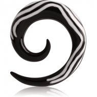 ORGANIC HORN EAR SPIRAL WITH INLAID - WAVE PIERCING