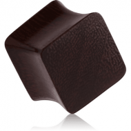 ORGANIC WOODEN PLUG TAMARIND SQUARE DOUBLE FLARED PIERCING