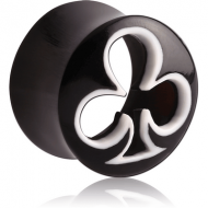ORGANIC CARVED HORN HOLLOW PLUG DOUBLE FLARE - CLUB PIERCING