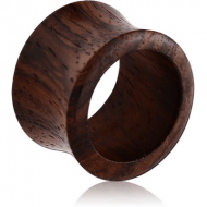 ORGANIC WOODEN TUNNEL DOUBLE FLARED - BLACK PIERCING