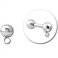 SURGICAL STEEL MICRO BALL WITH HORIZONTAL HOOP PIERCING