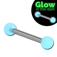 SURGICAL STEEL MICRO BARBELL WITH UV GLOW IN THE DARK BALLS PIERCING