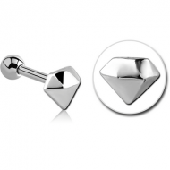 SURGICAL STEEL TRAGUS MICRO BARBELL - DIAMOND PIERCING