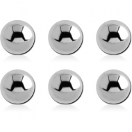 PACK OF 6 SURGICAL STEEL MICRO BALLS PIERCING