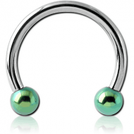 SURGICAL STEEL MICRO CIRCULAR BARBELL WITH ANODISED BALLS PIERCING