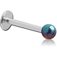 SURGICAL STEEL MICRO LABRET WITH ANODISED BALL