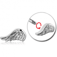 SURGICAL STEEL MICRO THREADED ATTACHMENT-WING PIERCING