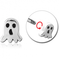 SURGICAL STEEL MICRO ATTACHMENT FOR 1.2MM THREADED PINS - GHOST PIERCING