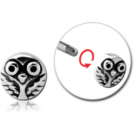 SURGICAL STEEL MICRO ATTACHMENT FOR 1.2MM THREADED PINS - OWL PIERCING