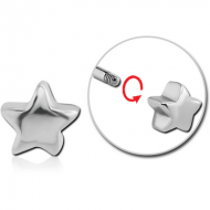 SURGICAL STEEL MICRO THREADED STAR ATTACHMENT PIERCING