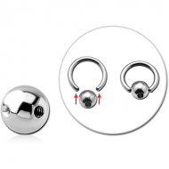 SURGICAL STEEL MICRO SLAVE BALL WITHOUT BALL CLOSURE RING PIERCING