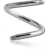 SURGICAL STEEL MICRO BODY SPIRAL PIN PIERCING