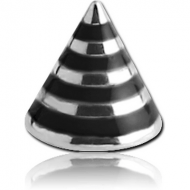 SURGICAL STEEL MICRO STRIPED CONE PIERCING