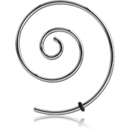 SURGICAL STEEL MICRO WIRE EAR SPIRAL PIERCING