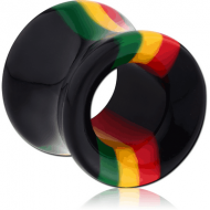ACRYLIC RASTA DOUBLE FLARED TUNNEL