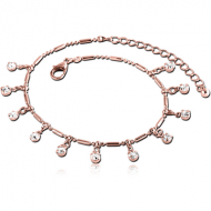 ROSE GOLD PLATED BRASS ANKLET