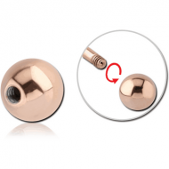 ROSE GOLD PVD COATED SURGICAL STEEL BALL PIERCING